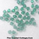 (20) Swarovski 4mm Bicone Crystal Beads~ Emerald~