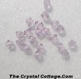 (20) Swarovski 4mm Bicone Crystal Beads~ Light Amethyst~
