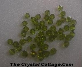 (20) Swarovski 4mm Bicone Crystal Beads~ Olivine~