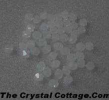 (20) Swarovski 4mm Bicone Crystal Beads~ White Opal~