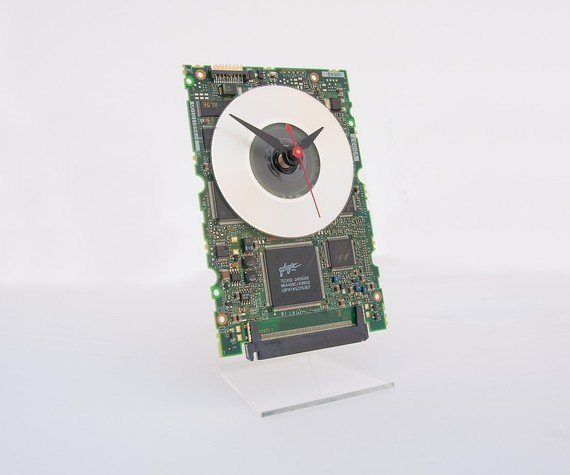 Circuitboard Desk Clock - Novelty Clock - Motherboard