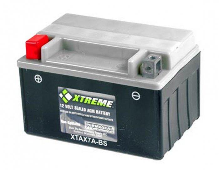XTAX7A-BS Xtreme AGM Powersport Battery