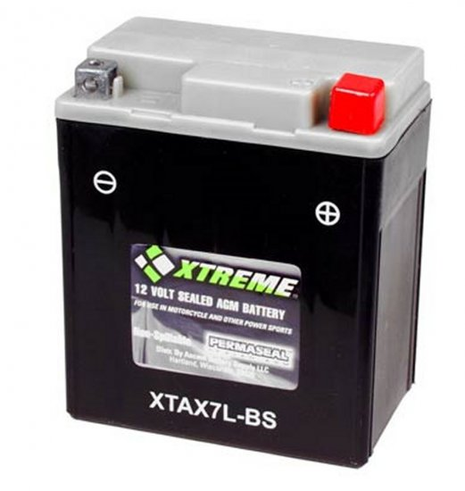 XTAX7L-BS Xtreme AGM Powersport Battery