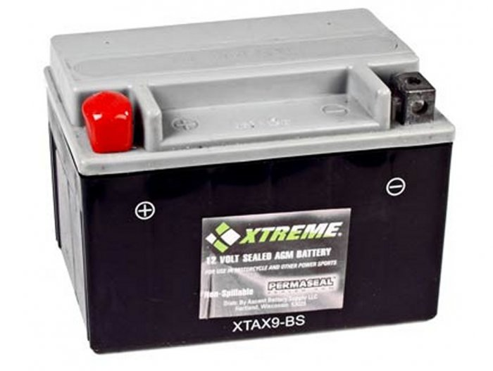 XTAX9-BS Xtreme AGM Powersport Battery