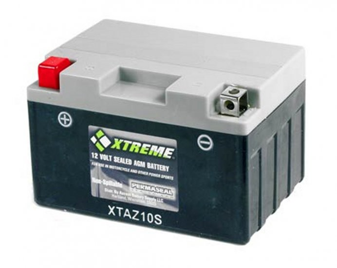 XTAZ10S Xtreme AGM Powersport Battery