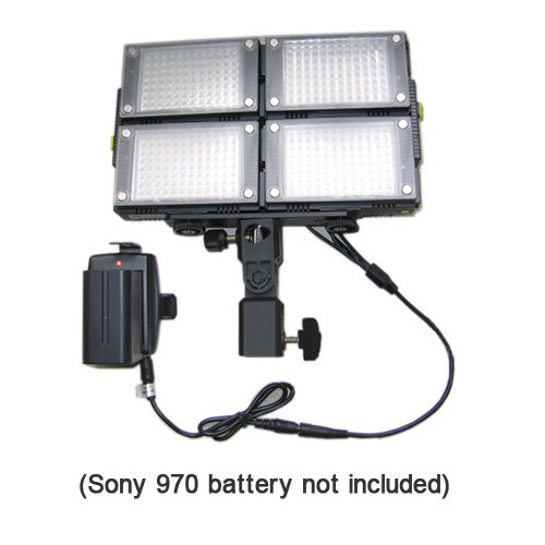 HDV-Z96(4pcs) 5600K LED Video Lights for DV Camcorder Lighting + Support Stand + Sony adapter