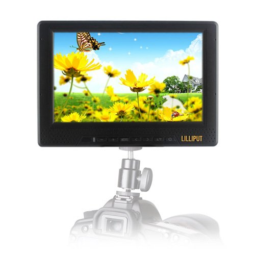 """Lilliput 668GL-70NP/H/Y 7"""" LCD On Camera Field Monitor w/ HDMI & Component"""