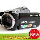 "HD Video camera 5MP CMOS 12 Megapixel (interpolation) 2.7""display 8X Digital Zoom Mini DV Camcoder"