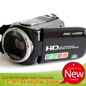 "HD Video camera 5MP CMOS 12 Megapixel (interpolation) 2.7""display 8X Digital Zoom Mini DV Camcoder"