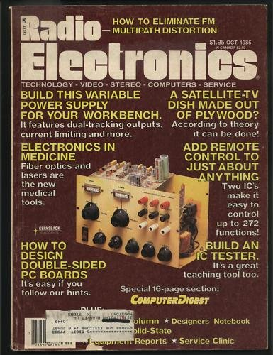 Radio Electronics October 1985 Technology Video Stereo