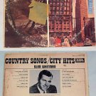 Slim Whitman Country Songs/City Hits Album Record LP 33