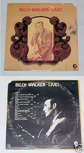 Billy Walker    Live   Album Record LP 33