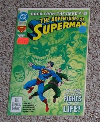 SUPERMAN BACK FROM DEAD 500 JUNE 1993