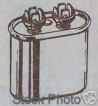 NEW! Motor Run Capacitor 7.5mf 370volt Oval Oil Filled