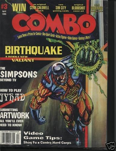 Combo Magazine April 1995 Simpsons Birthquake Artwork +