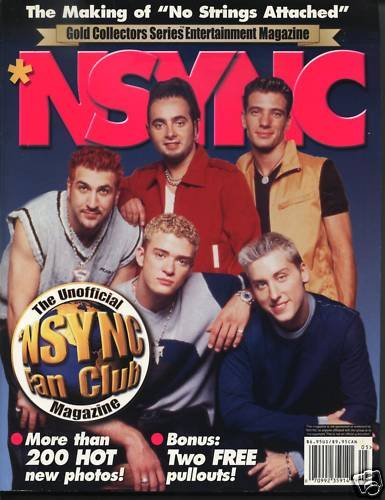 NSYNC Gold Collectors Entertainment Pinups Quiz Stars +