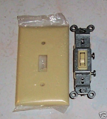 Slater Combination Pushwire Screw Switch W/Cover Ivory