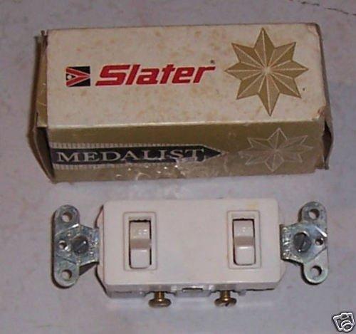 Slater Medalist Double Single Pole Switch White