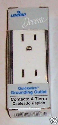 Leviton Decora Quickwire Grounding Outlet white 15a 125
