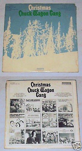 Christmas W/ The Chuck Wagon Gang ALBUM IS YELLOW LP 33
