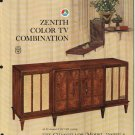 Vintage 1965 Zenith Color TV advertisement Mod 7500WU-6