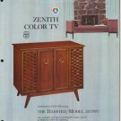 Vintage 1965 Zenith Color TV advertisement Model 5271WU