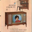 Vintage 1965 Zenith Color TV advertisement Model 6261HU