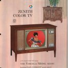 Vintage 1965 Zenith Color TV advertisement Model 6251HU