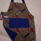 Cars and Trucks Child's Apron with Velcro Closure