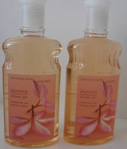 Bath & Body Works PLUMERIA SHOWER GEL WASH X 2 NEW!