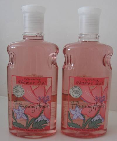 Bath & Body Works FLOWERING HERB SHOWER GEL WASH X 2 !!