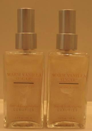 Bath & Body Works WARM VANILLA SUGAR SHIMMER MIST x 2