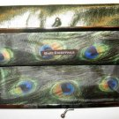 Bare Escentuals Minerals GOLD GREEN FOIL PEACOCK MAKEUP BAG TOTE