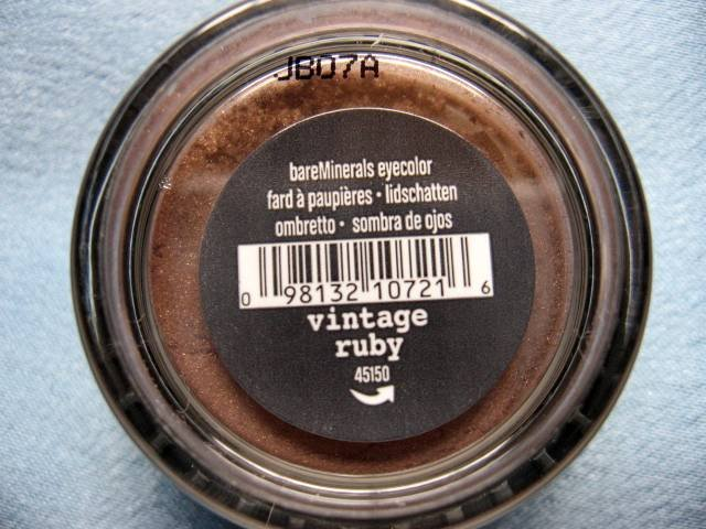 Bare Escentuals Minerals EYE SHADOW VINTAGE RUBY NEW!