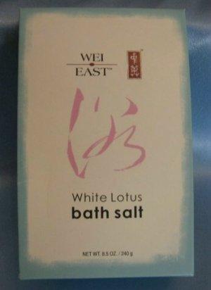 WEI EAST WHITE LOTUS Bath Salt with Sea Salt NEW!