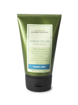 Bath & Body Works Aromatherapy Stress Relief Foot Scrub ~ Tranquil Mint ~ 4 oz. (113 g)