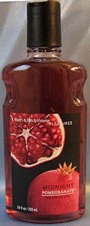 Bath & Body Works Pleasures Midnight Pomegranate Shower Gel 10 fl oz