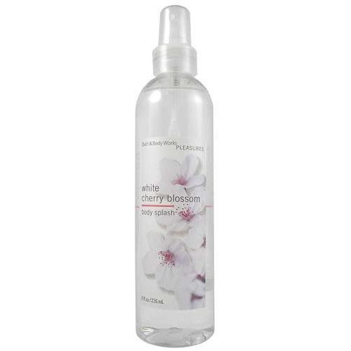 Bath & Body Works Pleasures White Cherry Blossom Splash 8 oz