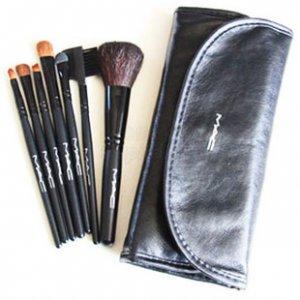 7 Pcs Brush Makeup Cosmetic Brushes Set Kit with Case