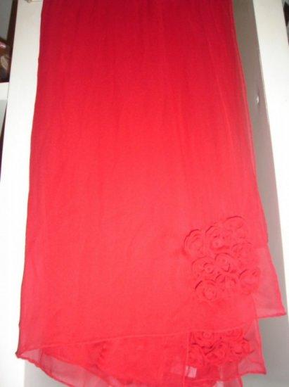 Red chiffon scarf