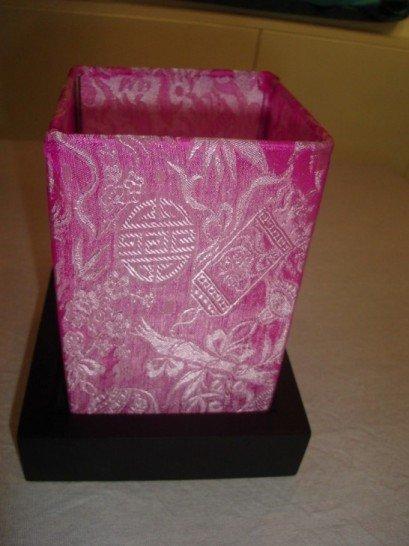 Pattern silk lantern in pink