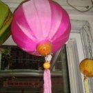 Pink silk lantern (40 cm dimension)
