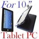 "10.2"" Black leather case cover skin for tablet PC MID UMPC V0"