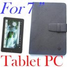 Rubber Hold Leather Case Cover for 7 inch Tablet PC M002