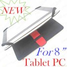 """8"""" Black Leather Case Cover Skin for tablet PC UMPC"""