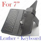 """Leather Case USB Keyboard For 7"""" Tablet PC + Touch Pen"""