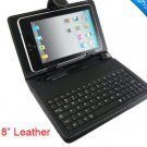 Leather Case with Keyboard for 8 inch MID Tablet PC SG