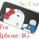 Hello Kitty Hard Case Cover Protector For Iphone 4 4G