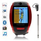 F6 Quad Band Single Compass Touch Screen Watch Phone