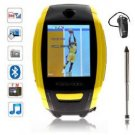 F6 Quad Band Single Card Compass Touch Watch Phone